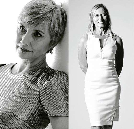 Vana-&-Margie-in-white-&-gold
